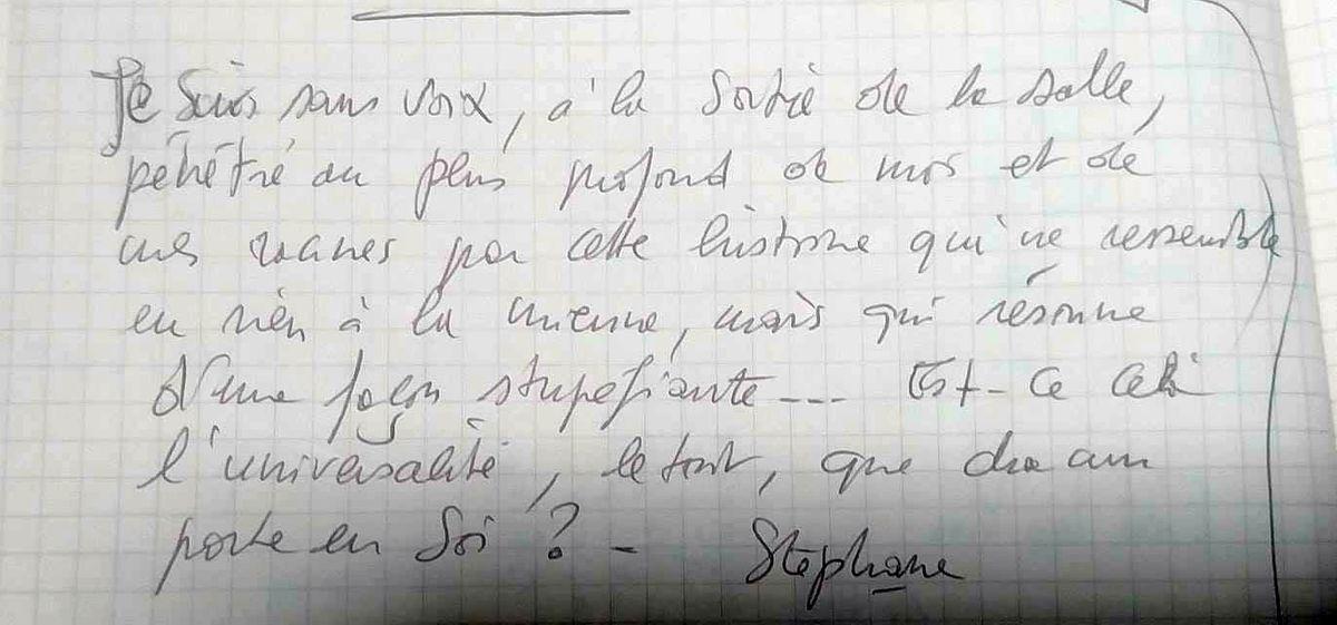 témoignage de Stéphane sur Vies de Papier